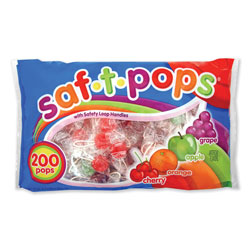Spangler Candy Saf-T-Pops, Assorted Flavors, Individually Wrapped, 200/Pack