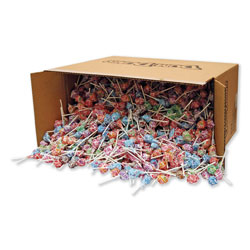 Spangler Candy Dum-Dum-Pops, Assorted Flavors, Individually Wrapped, Bulk 30 lb Carton