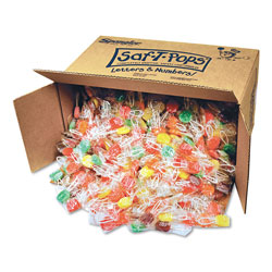 Spangler Candy Saf-T-Pops, Assorted Flavors, Individually Wrapped, Bulk 25 lb Box, 1000/Carton