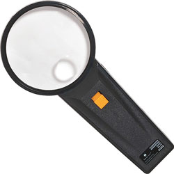 "Sparco Illuminated Magnifier, Round,2X Main/4X Bifocal, 3""Diameter"