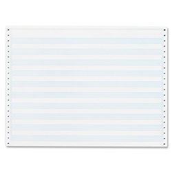 "Sparco Computer Paper, 1/2"" Blue Bar, 20 Lb, 14-7/8""x11"", 2400/Carton"
