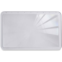"""Sparco Full Page High Power Magnifier, 8-1/2""""x12""""x1/8"""", 2X Power, BK"""