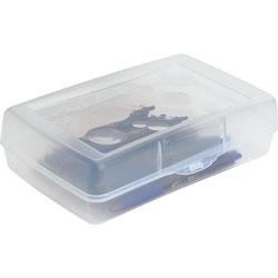 Sparco Pencil Box, Regular, Clear