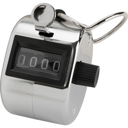 Sparco Tally Counter with Finger Ring, Silver
