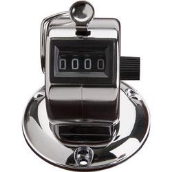 Sparco Tally Counter With Base, Silver