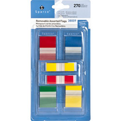 Sparco Removable Flag Kit with Pop-up Dispenser, Assorted