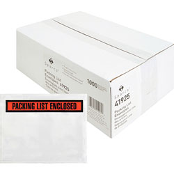 Sparco Packing/Invoice Envelope, 7 in x 5.5 in, 1000/BX, White