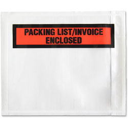 Sparco Packing/Invoice Envelope, 4.5 in x 5.5 in, 1000/BX, White