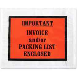 Sparco Packing/Invoice Envelope, 5.5 in x 4.5, 1000/BX, White