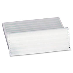 """Sparco 1/2"""" Green Bar Paper, 1 Part, 15 lb., 14 7/8""""x11"""""""