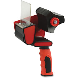 Sparco Packaging Tape Dispenser, 3 in, Red/Black