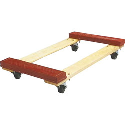 """Sparco Red Cross Member Dolly, 18"""" x 30"""" x 5 3/4"""", 1000 lb Capacity"""