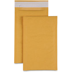 Sparco Cushioned Bubble Mailer, 6 in x 10 in, 250/CT, Kraft