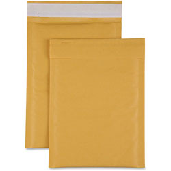 Sparco Cushioned 1 Bubble Mailer, 7-1/2 in x 12 in, 100/CT, Kraft