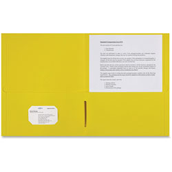 Sparco 2-Pocket Portfolio, 25/BX, Yellow