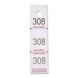 Sparco Check Tickets, Coat, 3 Part, 500 Ct, White