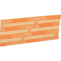Sparco Coin Wrapper, Quarters, $10.00, Orange