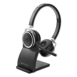 Spracht ZuM BT Prestige Headset with USB Dongle, Binaural, Over-the-Head, Black