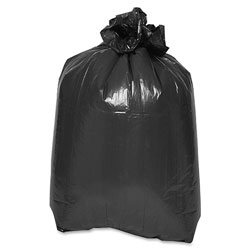 Private Brand Flat Bottom Trash Bags, 38 in x 58 in, 1.5mil, 100/CT, Black