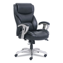 SertaPedic Emerson Big and Tall Task Chair, Supports up to 400 lbs., Black Seat/Black Back, Silver Base