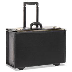 Bond Street Tufide Rolling Catalog Case, 22 1/4 x 9 x 13 1/2, Black