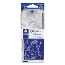 Staedtler Xcellence Mathematical Instrument Set, Plastic, Clear/Blue