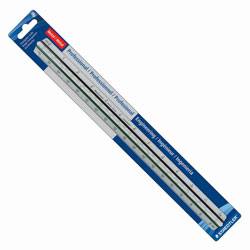 Staedtler Engineers Pro Triangular Scale, Mars, ALM, 12 in, Silver