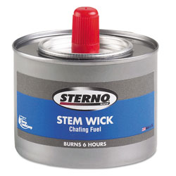 Sterno Chafing Fuel Can With Stem Wick, Methanol,1.89g, Six-Hour Burn, 24/Carton