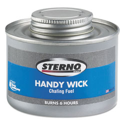 Sterno Handy Wick Chafing Fuel, Can, Methanol, Six-Hour Burn, 24/Carton