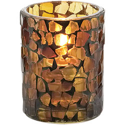 Sterno Morocco Tealight Flameless Candle Holder, Amber