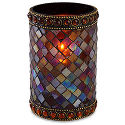 Sterno Dolce Flameless Candle Holder, Amber
