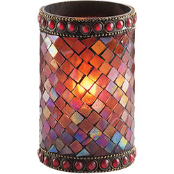 Sterno Dolce Flameless Candle Holder, Red