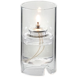 Sterno Nikola Flameless Candle Holder, Clear
