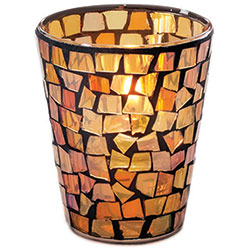 Sterno Morocco Flameless Candle Holder, Votive Flameless Candle Holder, Amber
