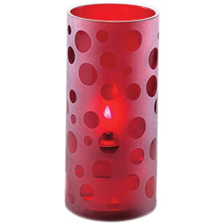 Sterno Scholar Flameless Candle Holder, Red