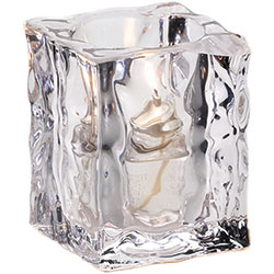 Sterno Joule Flameless Candle Holder, Clear/Frost