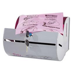 Stout Plastic Feminine Hygiene Disposal Bag Dispenser, Gray