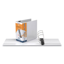 Stride QuickFit PRO Heavy Duty Storage D-Ring View Binder, 3 Rings, 6 in Capacity, 11 x 8.5, White