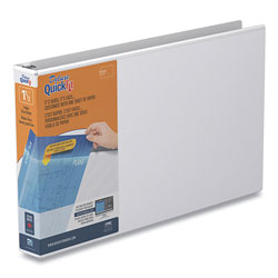 Stride QuickFit Ledger D-Ring View Binder, 3 Rings, 1.5 in Capacity, 11 x 17, White
