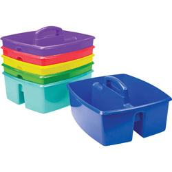 Storex Large Caddy, 11-1/5 inWx13-1/5 in x 10-3/4 inH, 6/CT, Assorted