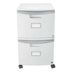 Storex Two-Drawer Mobile Filing Cabinet, 14.75w x 18.25d x 26h, Gray