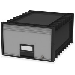 Storex Archive Drawer, Legal, 18-1/4 in x 24-3/4 in x 11-1/2 in, Black/Gray