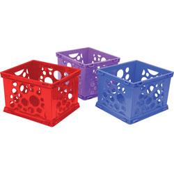 Storex File Crate, 14-1/4 inWx17-1/4 inLx10-1/2 inH, 3/CT, Assorted