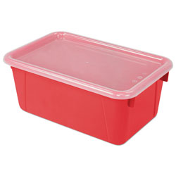 Storex Cubby Bins, 12.25 x 7.75 x 5.13, Red, 6/PK