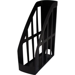 Storex Magazine File, Recycled, 9-3/4 in x 4 in x 11-1/2 in, Black