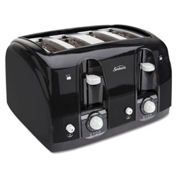 Sunbeam Extra Wide Slot Toaster, 4-Slice, 11 3/4 x 13 3/8 x 8 1/4, Black