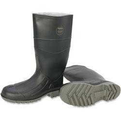 Servus Steel Toe Rubber PVC Boot, Size 9, Black/Gray