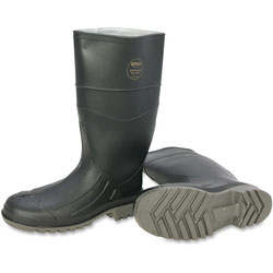 Servus Steel Toe Rubber PVC Boot, Size 10, Black/Gray