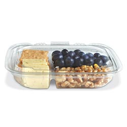 Placon Crystal Seal reFresh 13 oz. Clear 3-Compartment Container
