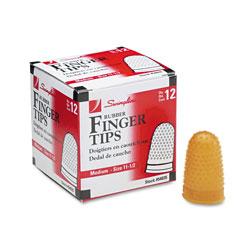 Swingline Rubber Finger Tips, 11 1/2 (Medium), Amber, Dozen